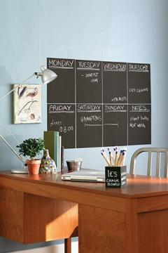 Wallies Peel & Stick Chalkboard Sheet, Slate Gray, Set of 4