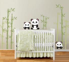 Panda wall decals by In An Instant Art