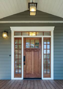 Craftsman wood door
