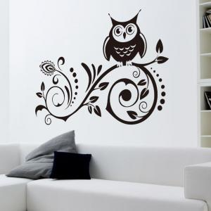 Vakind Black Owl Removable Art Vinyl Wall Sticker Decal Room Home Decor DIY