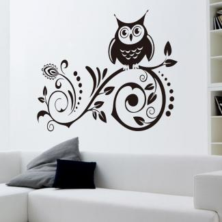 Vakind Black Owl Removable Art Vinyl Wall Sticker Decal Room Home Decor DIY