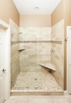 built-in shower seating