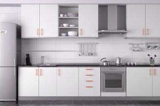 Colored kitchen cabinet handles
