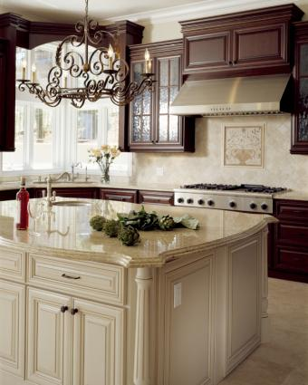 how to design a kitchen with mismatched cabinets lovetoknow. Black Bedroom Furniture Sets. Home Design Ideas