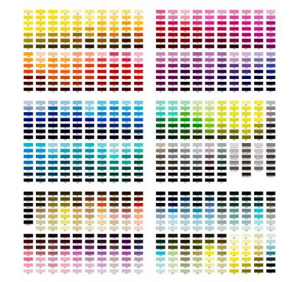 Color reference chart
