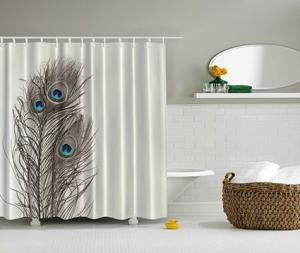 Peacock Fabric Shower Curtain