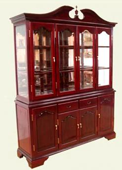 Rosewood English China Hutch
