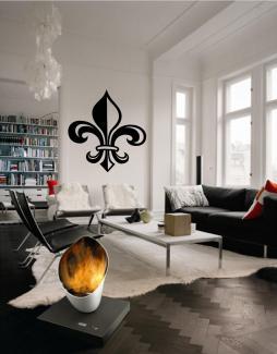 Fleur De Lis Style Wall Decal