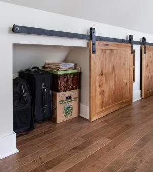 built-in storage under the eaves