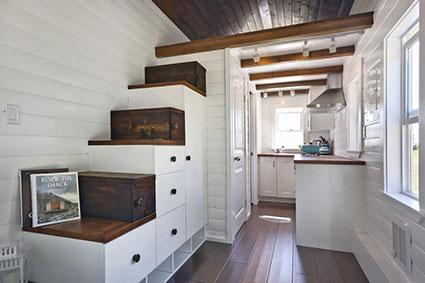 Modern design style with built-in drawer storage