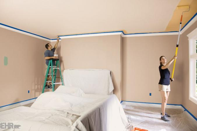 BEHR painting the ceiling