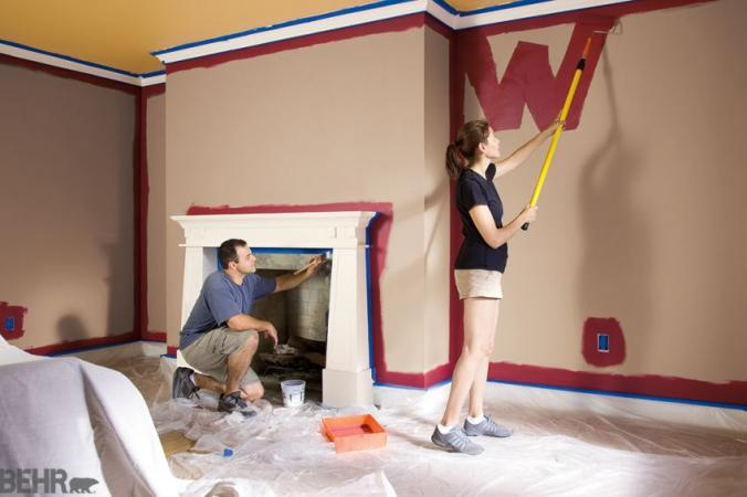 BEHR painting the walls