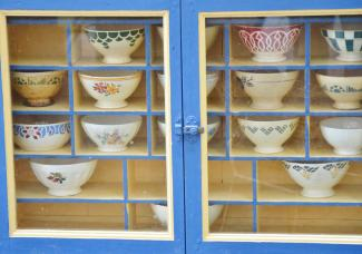 Cubbies in china cabinet