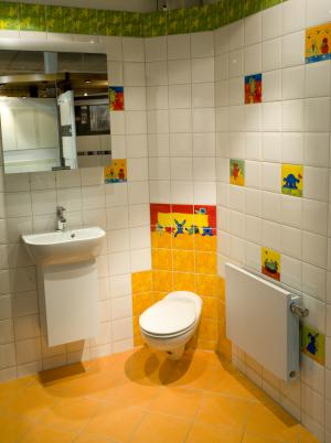 Kids modern bathroom design