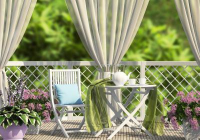soft breezy balcony