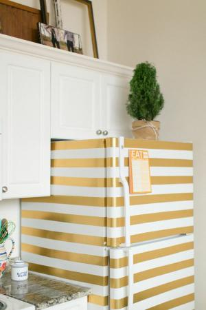 striped refrigerator