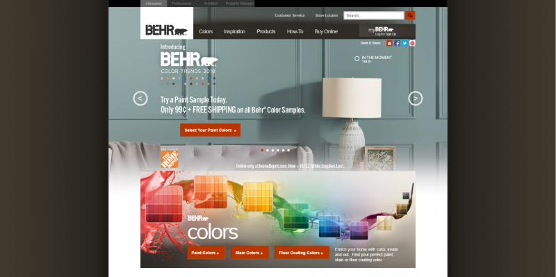 Screenshot of Behr