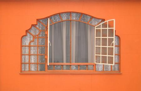 Orange exterior wall