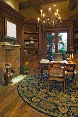 warm wood study