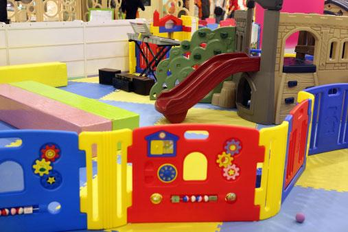 active play zone with slide