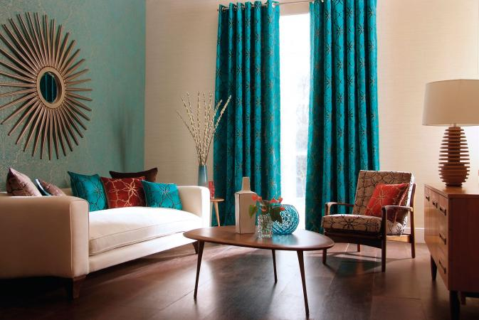 Contemporary colors in living room