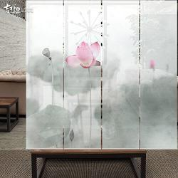 Decorative art floral rolling screen