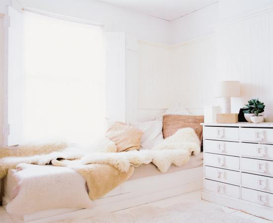 comfy and bright bedroom