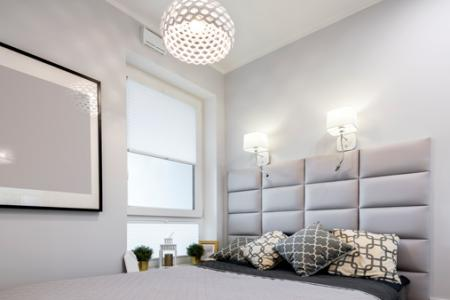 Small modern bedroom lighting