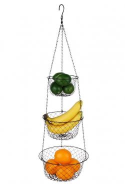 Tai-ying 3-Tier Wire hanging fruit baskets