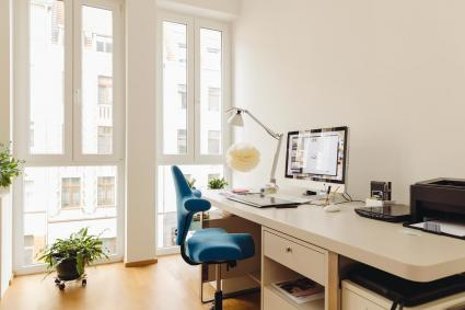 desk and chair in minimalist office