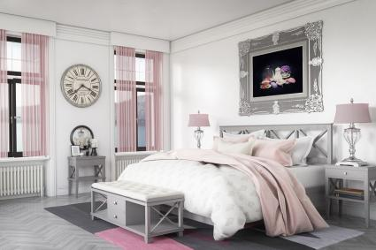 Light Gray, White, and Pale Pink Palette