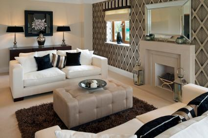 White, Taupe and Black Combination