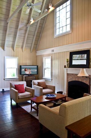 white barn-style living room