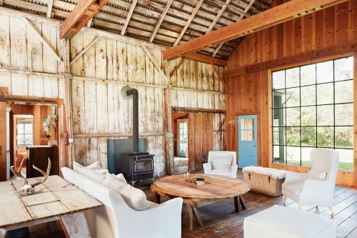 rustic barn-style living room