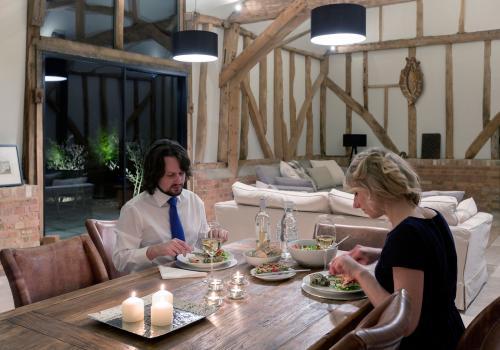horse barn interior dining room