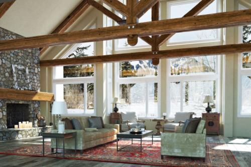 super elegant barn-style interior