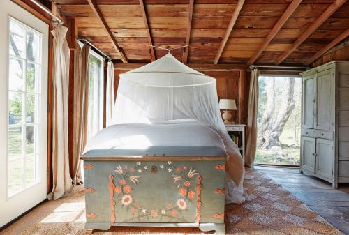 rustic barn-style bedroom