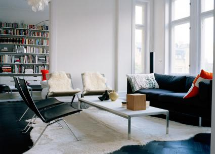 Scandinavian furniture in living room
