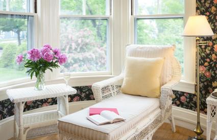 Bedroom cozy sitting area