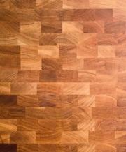 Standard butcher block surface design.
