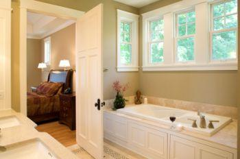 Your master bathroom should repeat the same design theme found in your master bedroom.