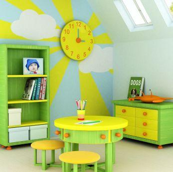 Creative Wall Decoration For Playroom.