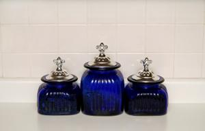Superieur Fleur De Lis Topped Glass Jars Source. Fleur De Lis Kitchen Canisters ...