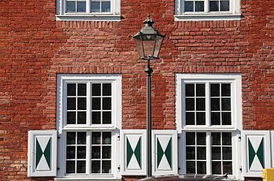 European style window half shutters