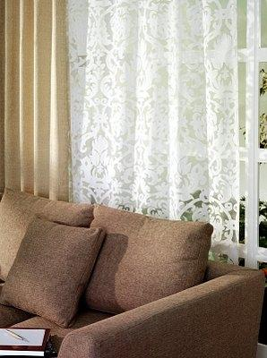 Sheer Curtains Hung With D Source Double Curtain Rods