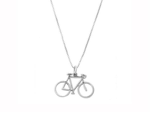 Bicycle jewelry pictures lovetoknow double sided pendant aloadofball Gallery