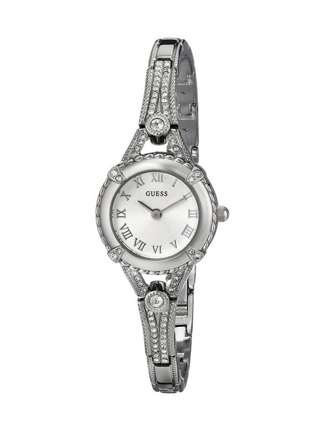 GUESS U0135L1 Petite Crystal-Accented Silver-Tone Watch  sc 1 st  Jewelry - LoveToKnow & Costume Jewelry Watches that Look Expensive | LoveToKnow