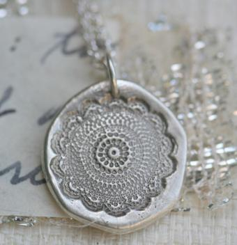 Black Lace Bloom necklace