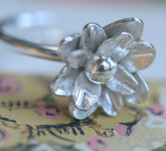 Full Bloom sterling silver ring