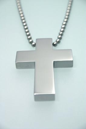 Brushed stainless steel cross
